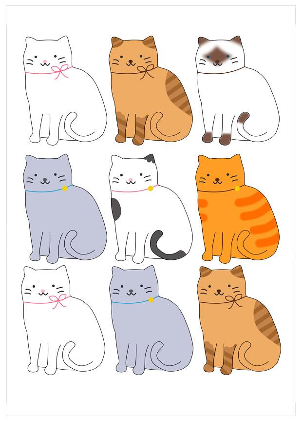 papel de azucar gatitos