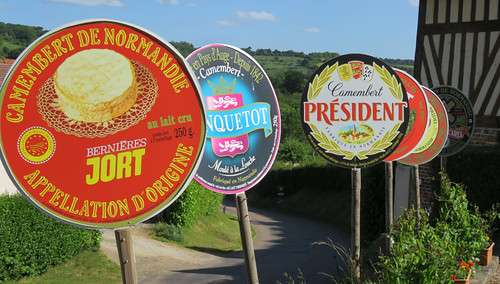 Cheese Signs in Livorot, France