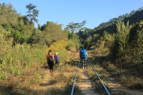 Following the train tracks to Myint Dide