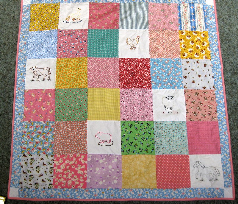 Completely finished quilt