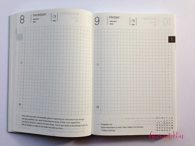 Review 2015 Hobonichi A6 Planner @TheJournalShop (15)
