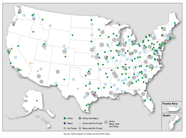 Figure 2 Map of ROTC Units across the United States and I Flickr