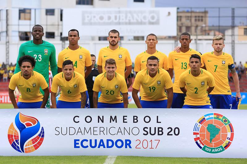 Brasil x Paraguai pelo Sul-Americano Sub-20