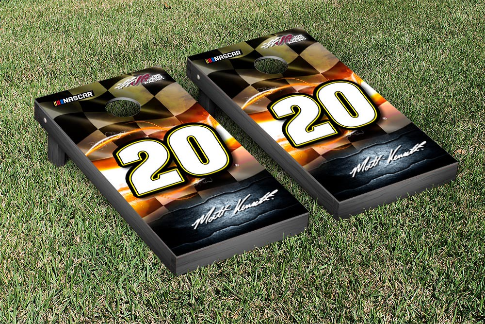 MATT KENSETH #20 CORNHOLE GAME SET NIGHT LIGHTS VERSION (1)