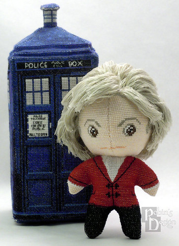 Doctor Who 3D cross stitch patterns by Robins Design - Jon Pertwee
