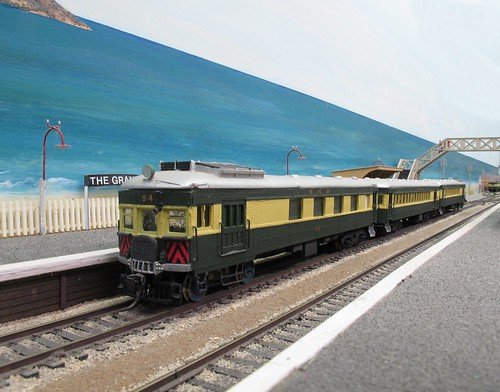 Railcar in station
