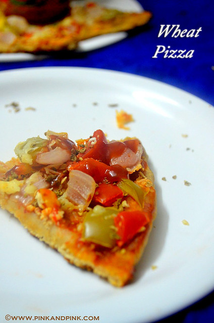 Wheat Pizza Recipe in pressure cooker without oven