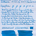 Diamine China Blue on Clairefontaine