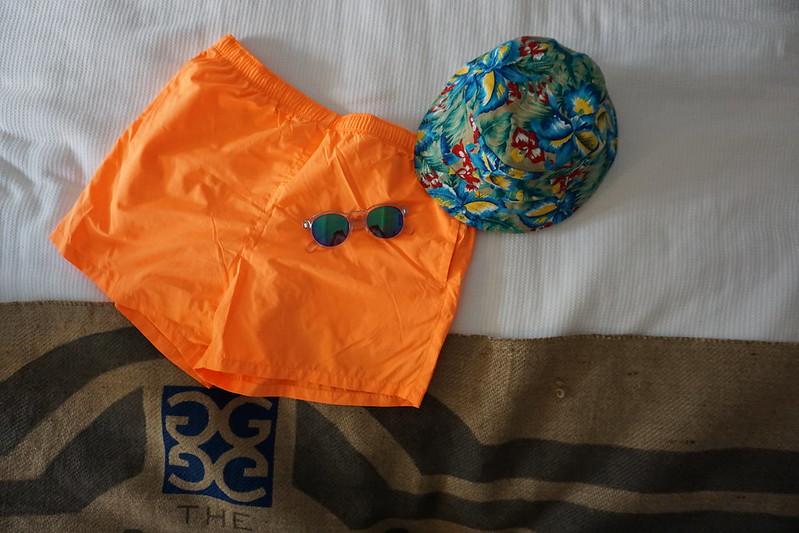 Blue and Orange Swimwear At The Gates Hotel