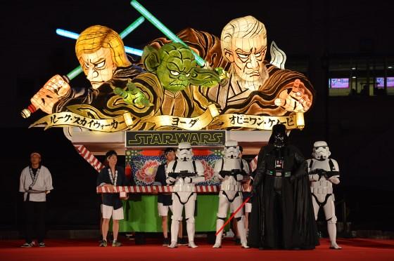 Aomori Nebuta Festival Japan - Star Wars Floats Yoda