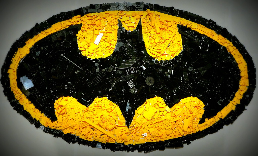 batman logo mosaic was colour sorting lego when i got bore flickr