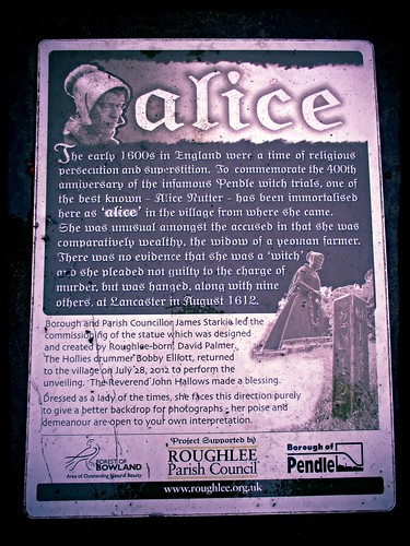 Alice Nutter Information Panel