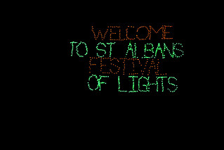 St. Albans Festival of Lights sign! | by annie.washington