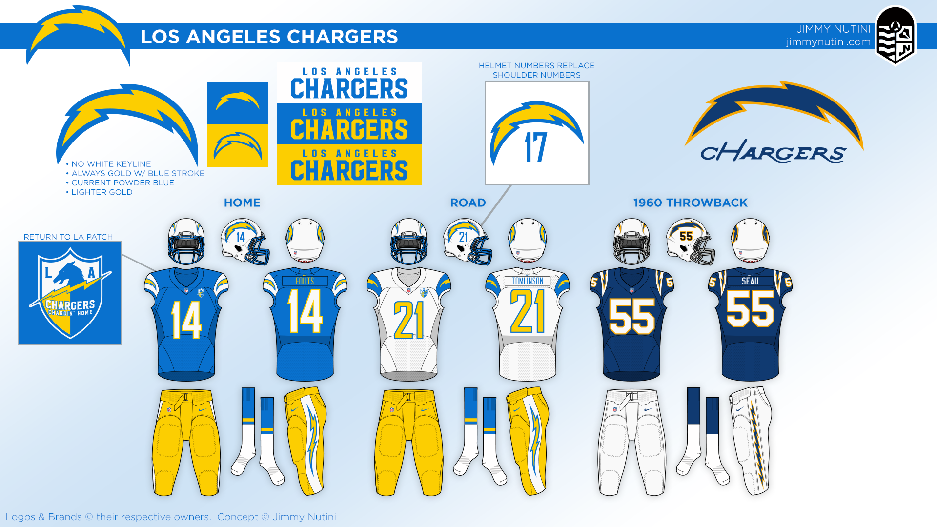 on sale f4553 65e08 The Chargers uni makeover awards - ABC News