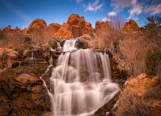 Waterfall In the Desert