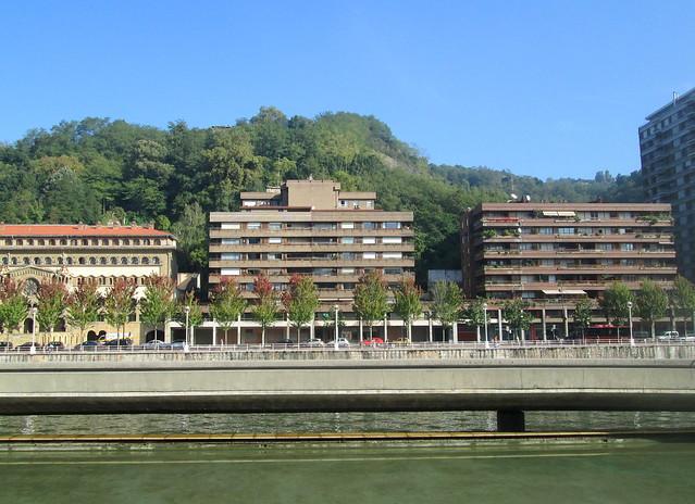 Buildings across Ría del Nervión O de Bilbao