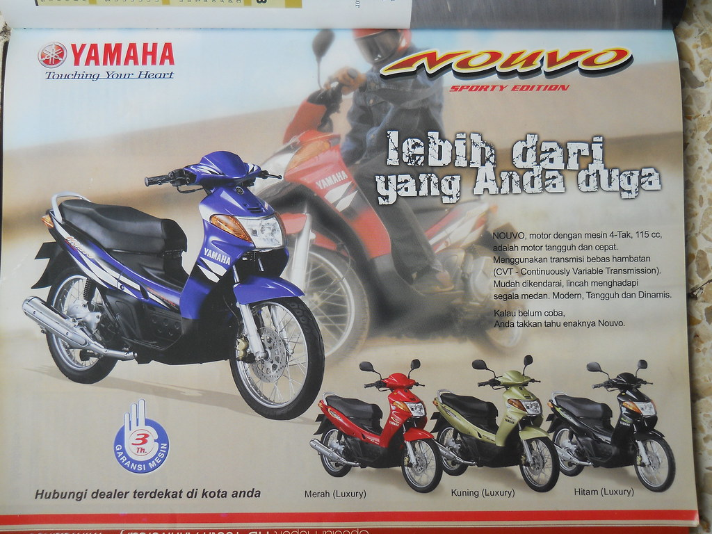 Yamaha Nouvo Sporty Edition Majalah Motoriders Oktober 200 Flickr Nuvo By Wiyastra