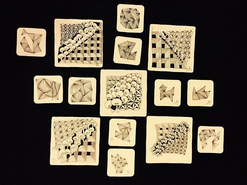 """Beyond Basics: Shades of Grey"" student tiles"