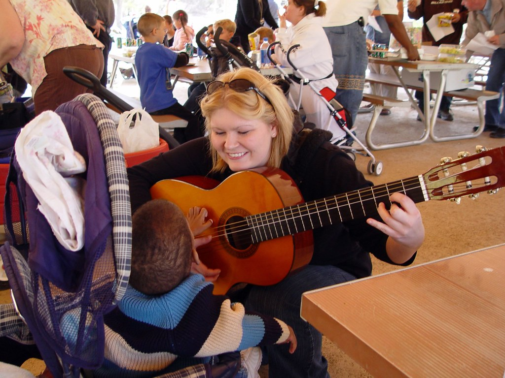 Music Therapy | Ashley entertains one of the RB children ...