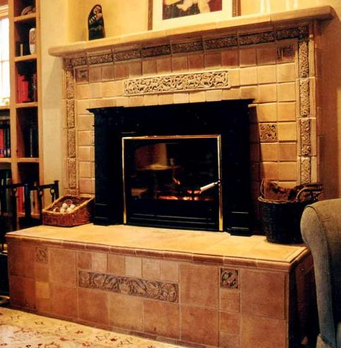 Tile Restoration Center Fireplace And Raised Hearth Flickr