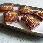 Kissenkuchen mit Brombeerpüree