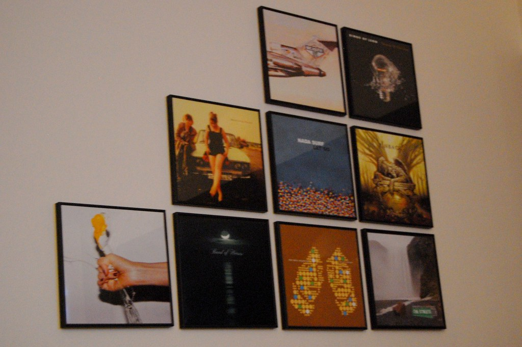 Record Wall Art | This is our second wall art made of record ...