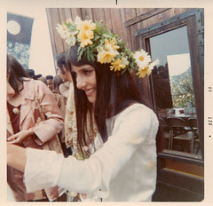 Mimi with Flowers 1968 | by erinyes