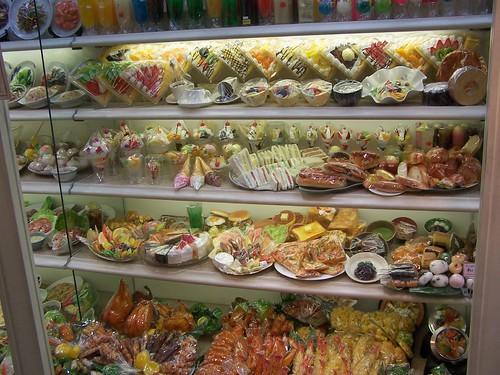 Fake food in Kappabashi