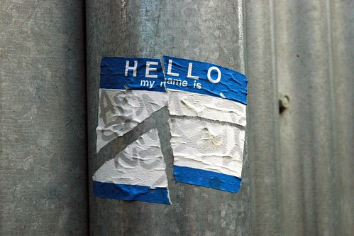 Hello my name is | by gillicious
