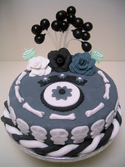 Skull & Bones Cake Inspired by Tim Burton's Corpse Bride | by Empress Eve