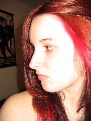 bad dye job - it was suppose to be dark brown and purple. tu ...