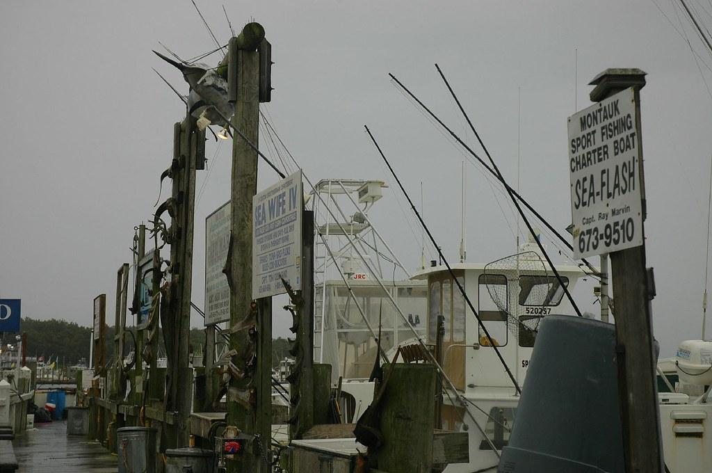 Montauk point ny where the fishing boats dock to unload for Montauk ny fishing