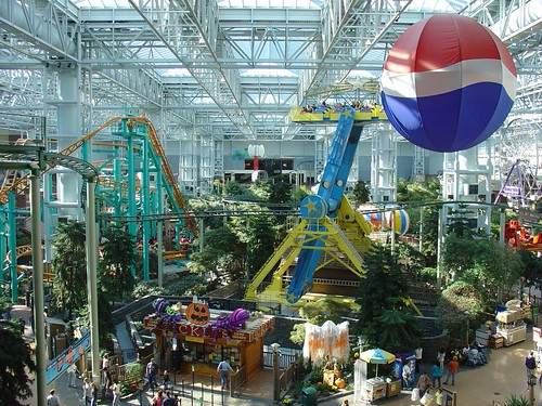 Mall Of America Theme Park Showing Only A Small Part Of