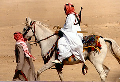 Ahmadi camel races 01 - horseman | by The Poss