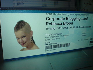 Corporate Blogging with Rebecca Blood | by @boetter