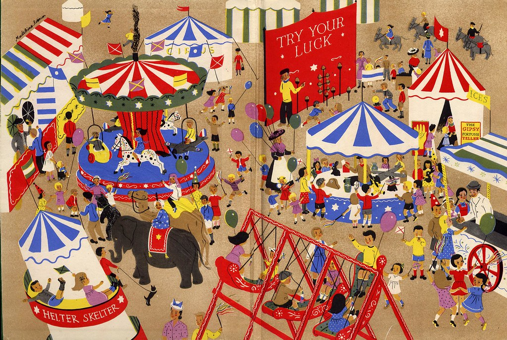 Fairground endpapers   The Children\'s Wonder Book In Colour,…   Flickr