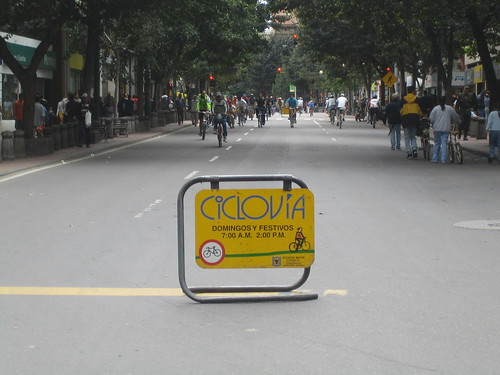 Sunday is Cycling day in downtown Bogota | by Micah & Erin