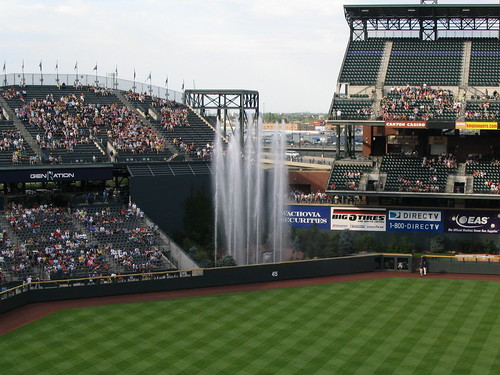 Water Fountains Rockies Home Run Coors Field Denver Co