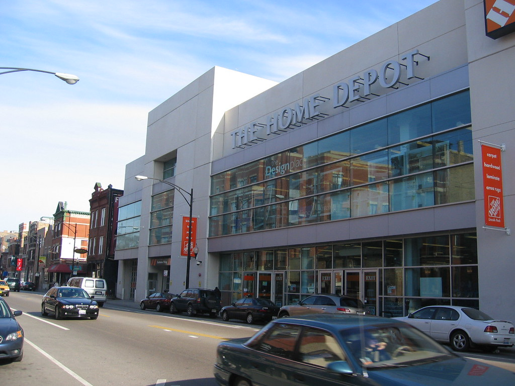 North Park Lincoln >> Home Depot, Halsted Street, Lincoln Park, Chicago | a two-fl… | Flickr