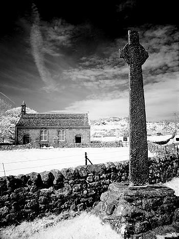 Gothic cross & background, Isle of Iona, Scotland | by Steve Deger