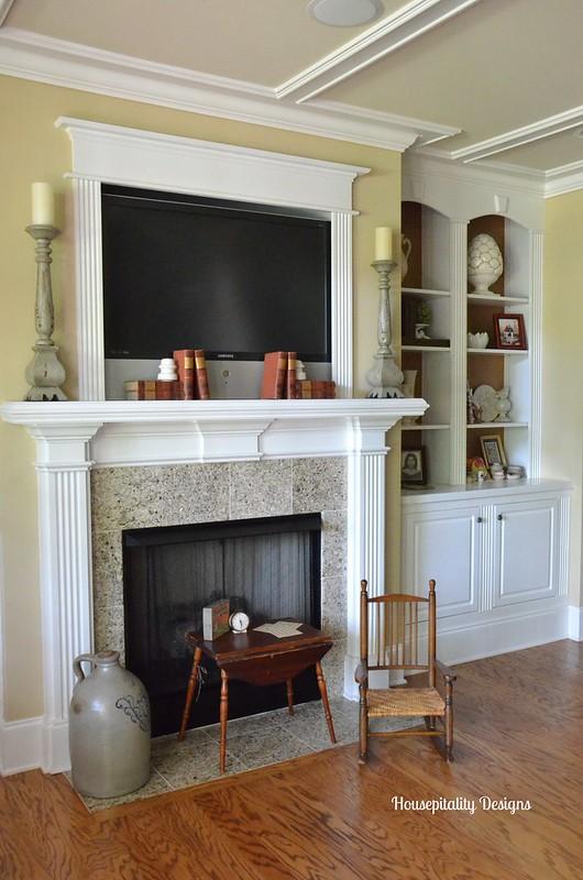 Media Room Mantel/Bookcases-Housepitality Designs
