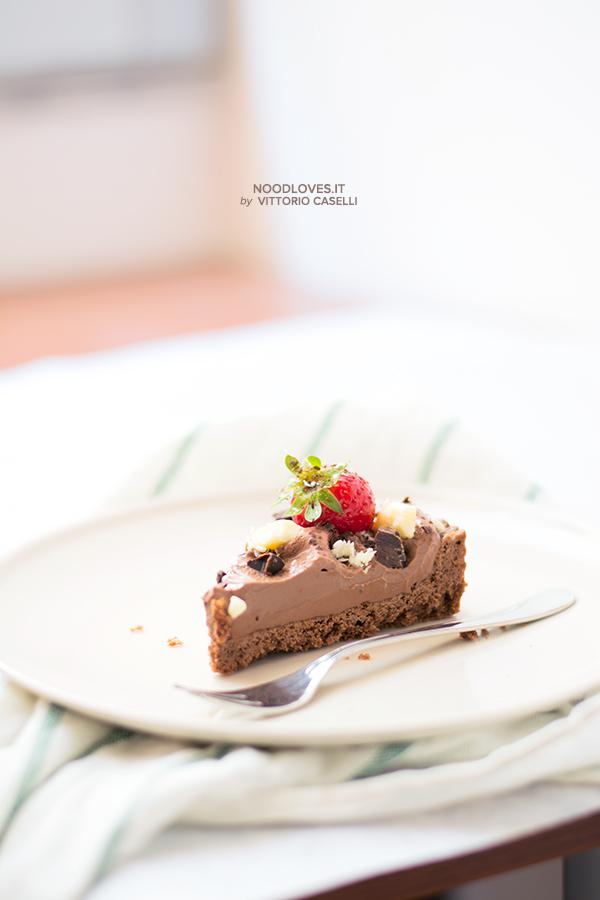 Crostata al cioccolato con fragole