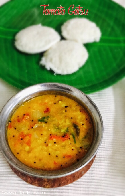 Tomato Gotsu with moong dal