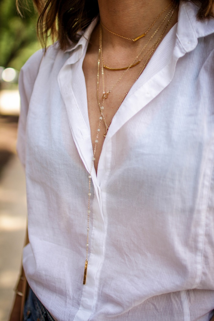 delicate layering necklaces. jewelry. fashion jewelry.