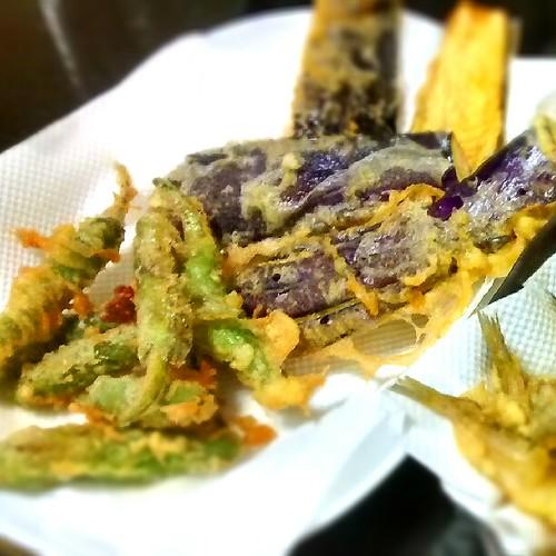 シシトウとなすの天ぷら