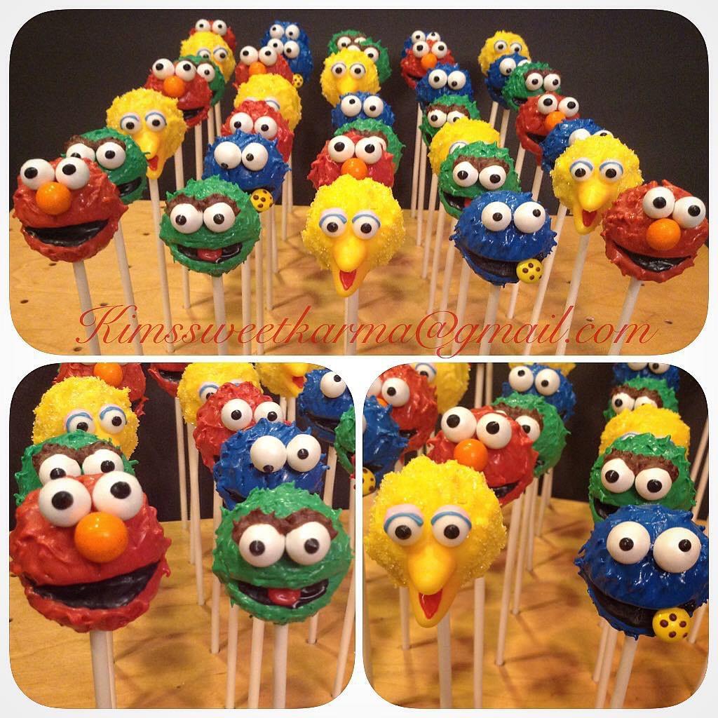sesame street cake pops elmo oscar big bird and cookie m flickr