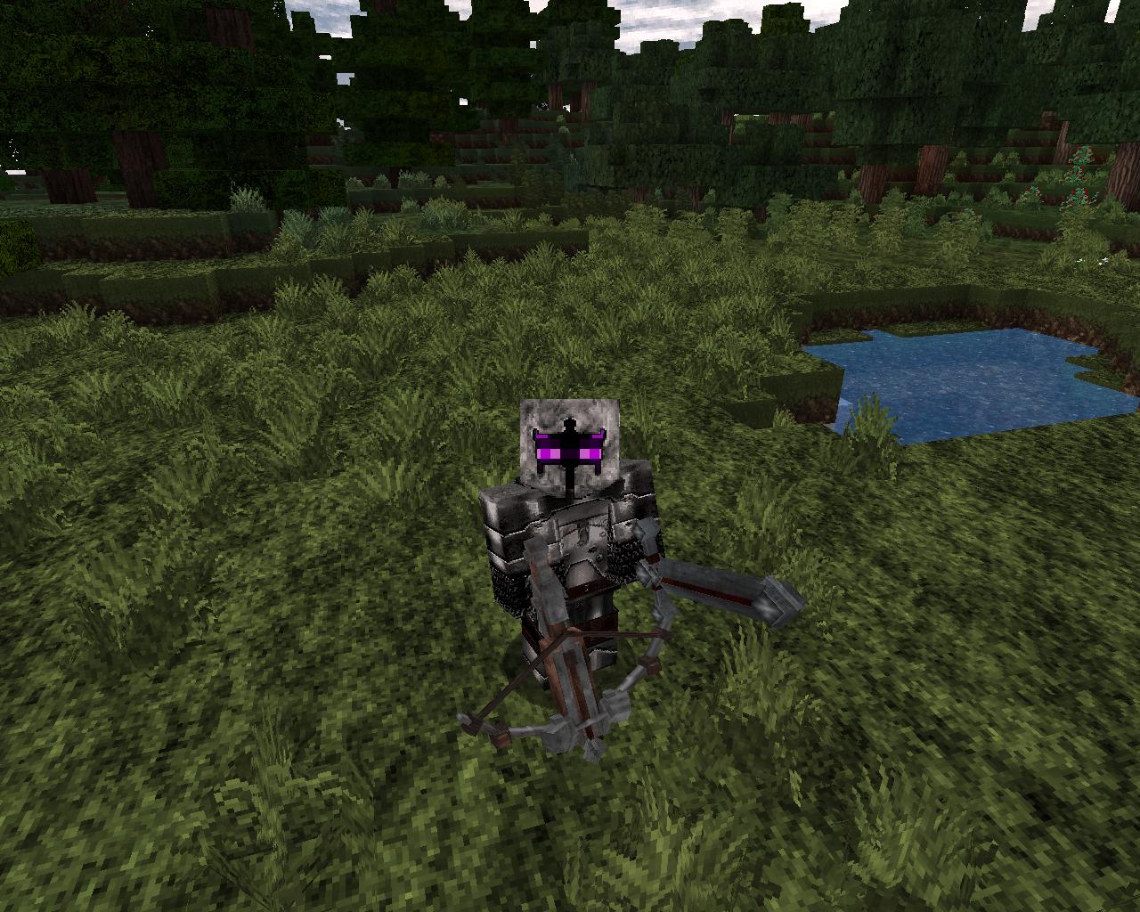 personnage minecraft avec les armes et armures de Vonafarth