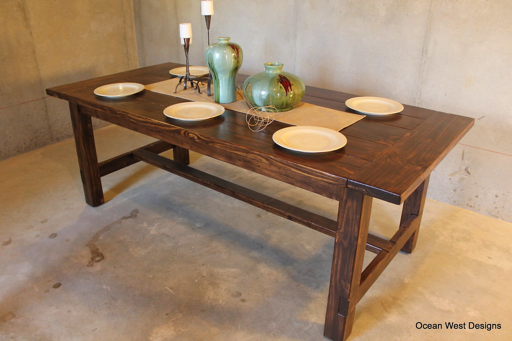 This Beautiful Dark Walnut Stained Farmhouse Table Is Bein Flickr - Farmhouse table atlanta