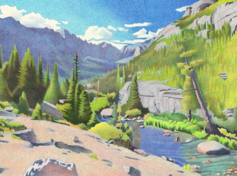 Glacier Gorge. Artist Dan Miller