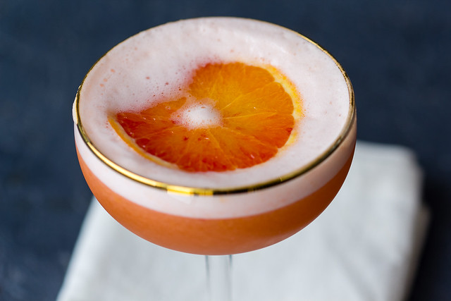 Blutorangen Rum Sour via lunchforone